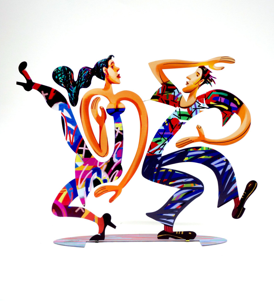 New Swingers dancers sculpture by David Gerstein