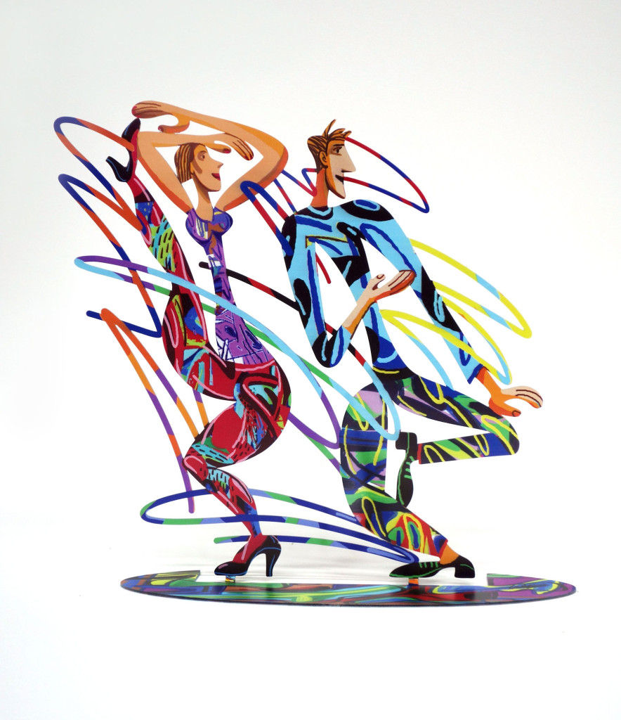 Rockers dancers sculpture by David Gerstein