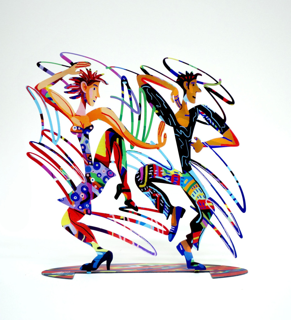 Twisters dancers sculpture by David Gerstein