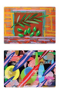 Seven Species and Abstract placemats set